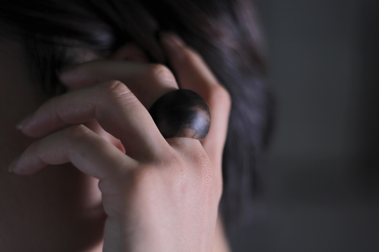 黒柿の木の指輪