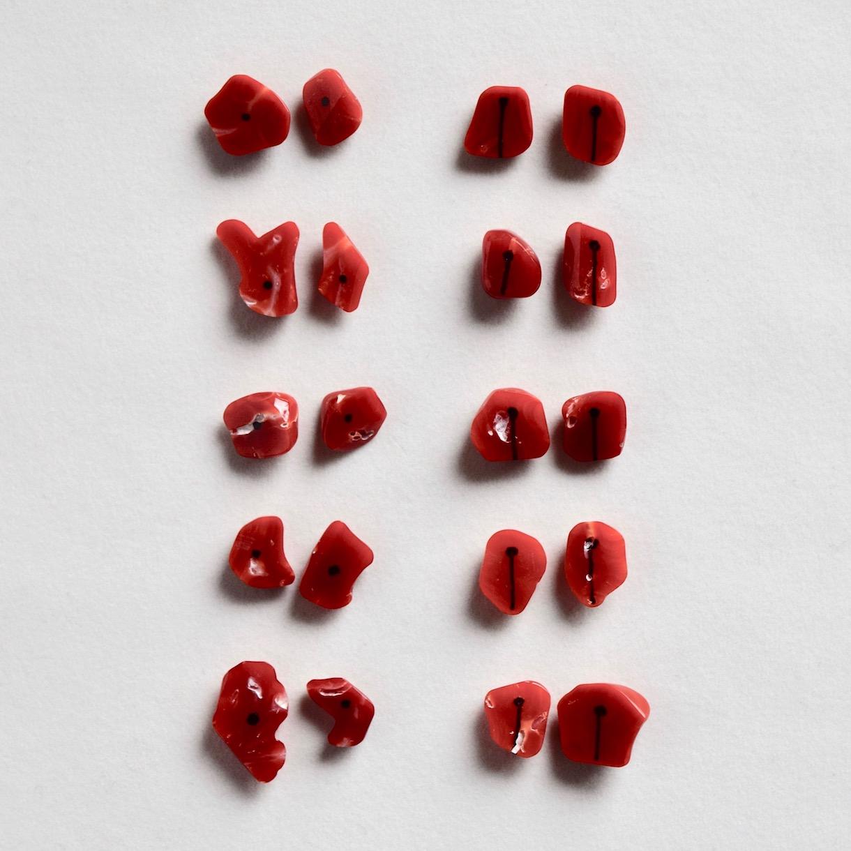 赤珊瑚のピアス,赤珊瑚のイヤリング